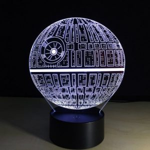 Death Star 3-D LED lamp and other decor ideas for a Star Wars-themed room