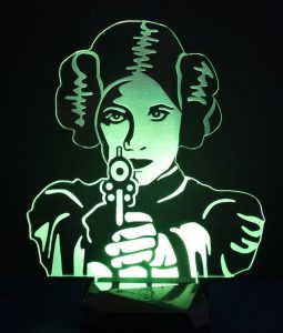 Princess Leia wall art and other decor ideas for a Star Wars-themed room