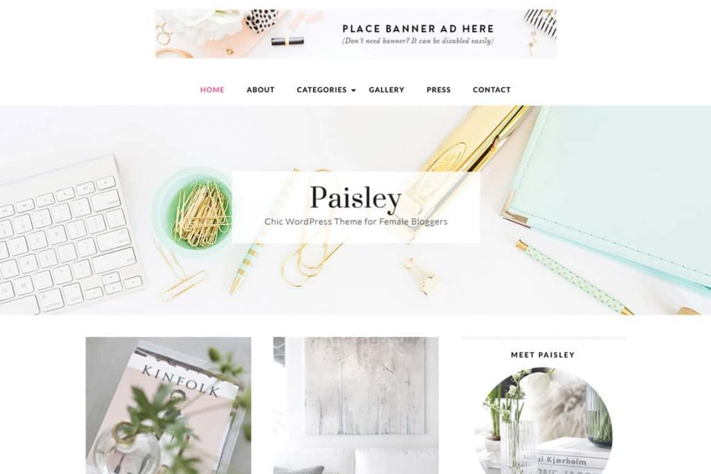 Beautiful WordPress themes for bloggers, influencers, thought leaders & female entrepreneurs.