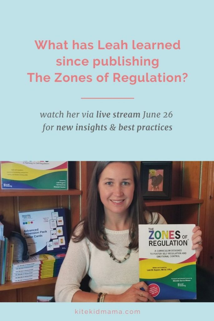 Best Practices for The Zones of Regulation - Leah Kuypers has learned a lot since publishing her top-selling curriculum 11 years ago. And she wants to tell you about it. Watch her June 26 keynote speech for tips & common misconceptions. It's a live-stream event, so you'll also have the opportunity to ask her questions. #zonesofregulation #zonesofregulationtools #toolsforzonesofregulation #selfregulation #selfregulationactivitiesforkids #angerinkids #anxietyinkids
