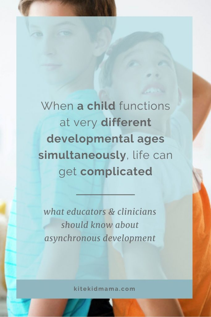 These kids tend to be very misunderstood, especially when they're twice exceptional (2e). Here's what educators, pediatricians & child mental health experts should know about asynchronous development.