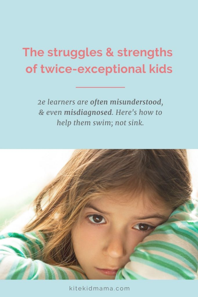 A twice-exceptional (2e) person is outside the norm in two ways. They're highly intelligent and they have a disability, which can be anything from slow processing speed or an anxiety disorder, to autism or dyslexia.